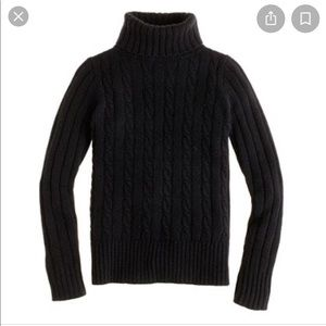 J crew Cambridge chunky cable knit sweater